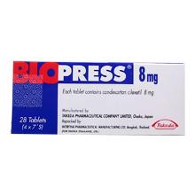 ブロプレス錠(降圧剤)8mg