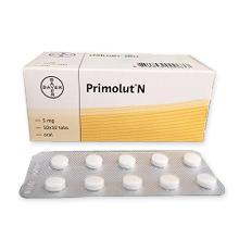 プリモルトN 5mg(黄体ホルモン 薬)